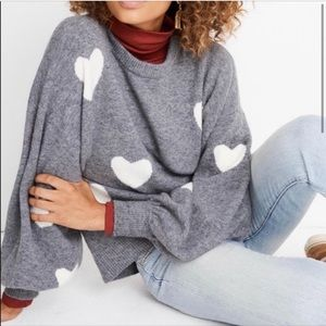 Madewell Heart Dot Grey Sweater